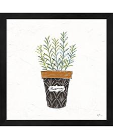 Fine Herbs Ix By Janelle Penner Framed Art