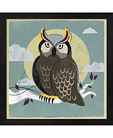 Perched Owl by Posters International Studio Framed Art