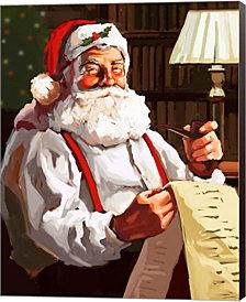 Santas List by P.S. Art Studios Canvas Art