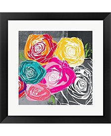 Colorful Roses II by Linda Woods Framed Art