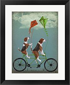 Beagle Tandem By Fab Funky Framed Art