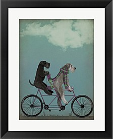 Schnauzer Tandem By Fab Funky Framed Art