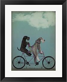 Schnauzer Tandem By Fab Funky Framed Art