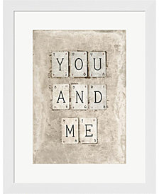 You And Me By Symposium Design Framed Art