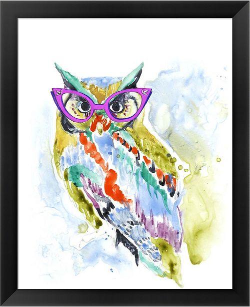 Metaverse Smartypants Owl By Jennifer Goldberger Framed Art