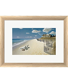 Beach House View By Zhen-Huan Lu Framed Art