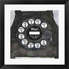 Phoning I By Sam Dixon Framed Art