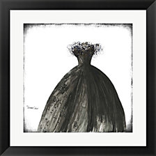 Black Dress I by Tamara Cohen Framed Art