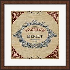 Merlot By Posters International Studio Framed Art