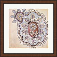 Lavender Textiles Ii By Patricia Pinto Framed Art