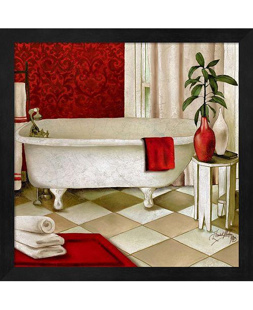 Metaverse Red Bain I By Elizabeth Medley Framed Art