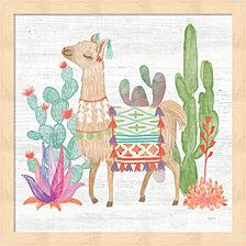 Lovely Llamas Iv By Mary Urban Framed Art