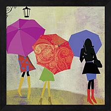Umbrella Girls By Posters International Studio Framed Art