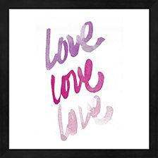 Love Times 3 by Nola James Framed Art