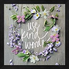 Use Kind Words by Sarah Gardner Framed Art