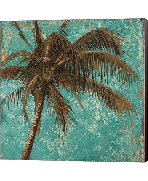 Metaverse Palm On Turquoise I By Patricia Pinto Canvas Art