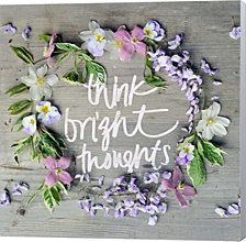 Think Bright Thoughts by Sarah Gardner Canvas Art