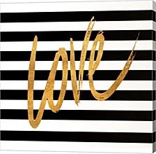 Valentines Stripes Iv By Sd Graphics Studio Canvas Art