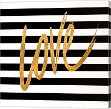 Valentines Stripes Iv By Sd Graphics Studio Canvas Art