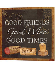 Wine Cork Sentimen3 By Cynthia Coulter Canvas Art