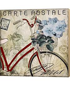 Postale Paris Ii By Color Bakery Canvas Art
