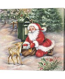 Santas Meeting At Th By Dbk-Art Licensing Canvas Art