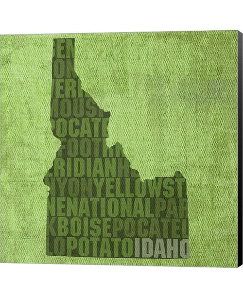 Metaverse Idaho State Words By David Bowman Canvas Art