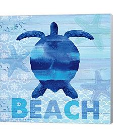 Sea Glass Turtle By Studio Bella Canvas Art