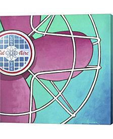 Belaire Fan Pink On By Larry Hunter Canvas Art