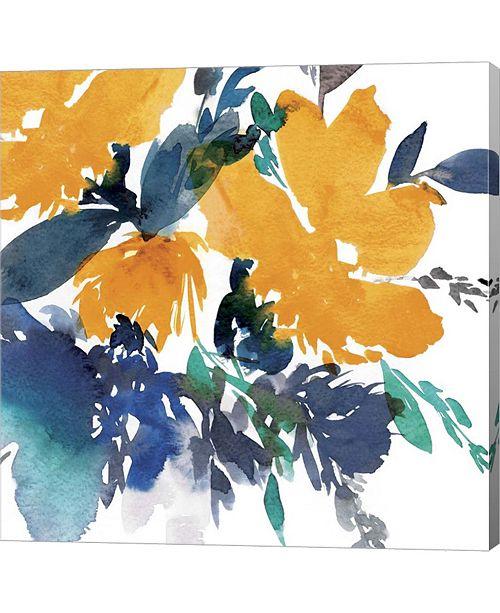 Metaverse Indigo Flower I By Isabelle Z Canvas Art