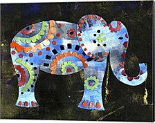 Boho Elephant 1 by Summer Tali Hilty Canvas Art