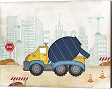 Cement Truck By Jennifer Pugh Canvas Art