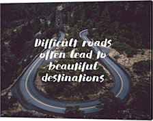 Difficult Roads Strength Forest By Color Me Happy Canvas Art