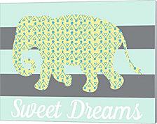 Elephant Sweet Dreams by Joanne Paynter Design Canvas Art