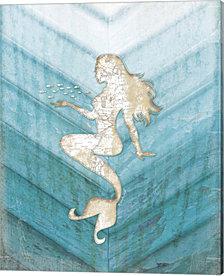 Coastal Mermaid II by Jennifer Pugh Canvas Art