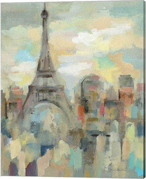 Metaverse Paris Impression By Silvia Vassileva Canvas Art