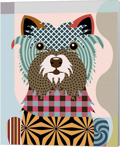 Metaverse Cairn Terrier By Lanre Adefioye Canvas Art