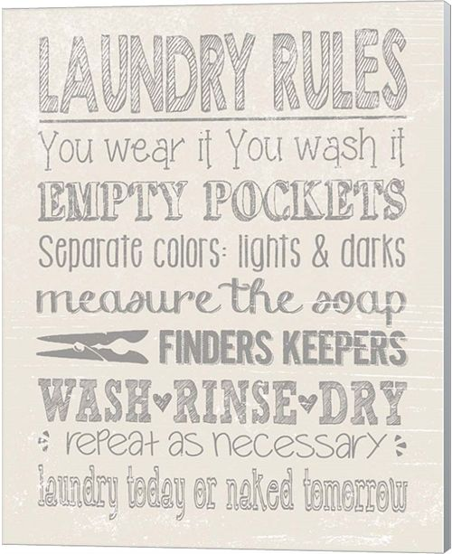Metaverse Laundry Rules On Whiate By Jo Moulton Canvas Art