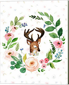 Watercolor Deer by Tara Moss Canvas Art