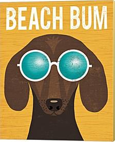 Beach Bums Dachshund I Bum By Michael Mullan Canvas Art