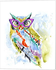 Smarty-Pants Owl by Jennifer Goldberger Canvas Art