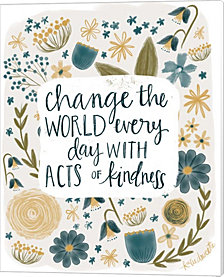 Kindness Changes the World by Katie Doucette Canvas Art