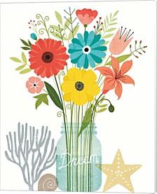 Seaside Bouquet Iii Mason Jar By Michael Mullan Canvas Art