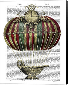 Baroque Fantasy Balloon 3 by Fab Funky Canvas Art