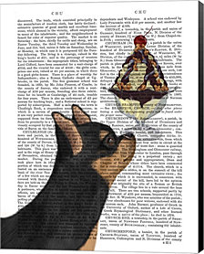 Chihuahua, Black and Ginger, Ice Cream by Fab Funky Canvas Art