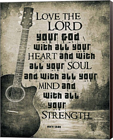 Mark 12:30 Love the Lord Your God (Guitar) by Inspire Me Canvas Art