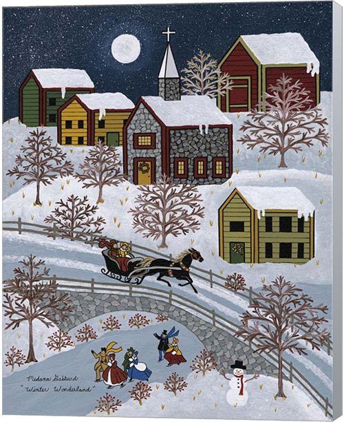 Metaverse Winter Wonderland By Medana Gabbard Canvas Art