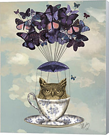 Owl In Teacup by Fab Funky Canvas Art