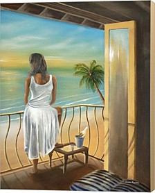 Woman Beach By Geno Peoples Canvas Art