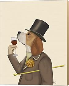 Beagle Wine Snob By Fab Funky Canvas Art